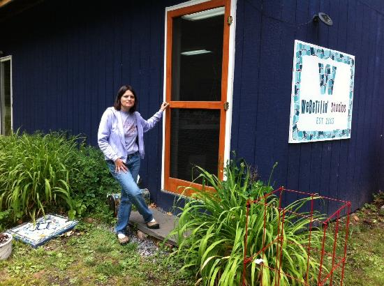WeBeTilin' Studios, located along Cayuga Lake