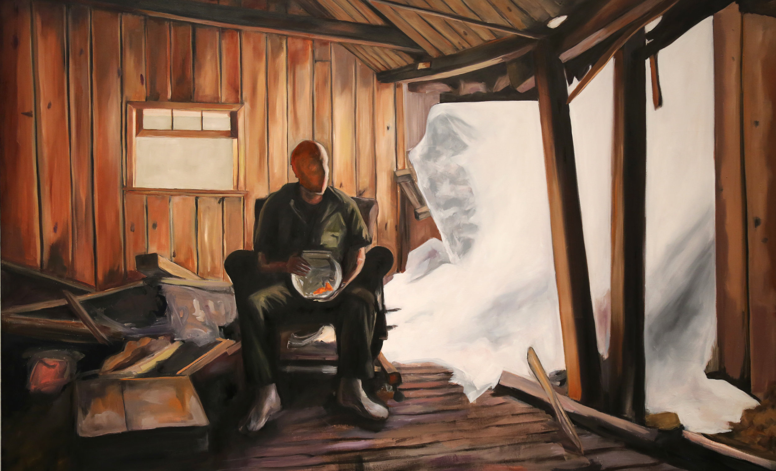 """Moffat Tunnel Mystery - Oil on canvas - 67"""" x 47""""- 2016"""