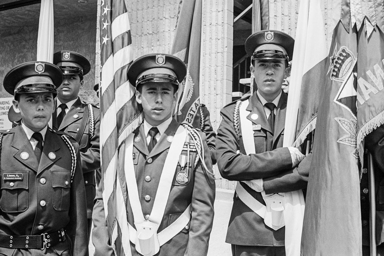 During a Memorial Day parade, La Cañada Flintridge, California, 2016.