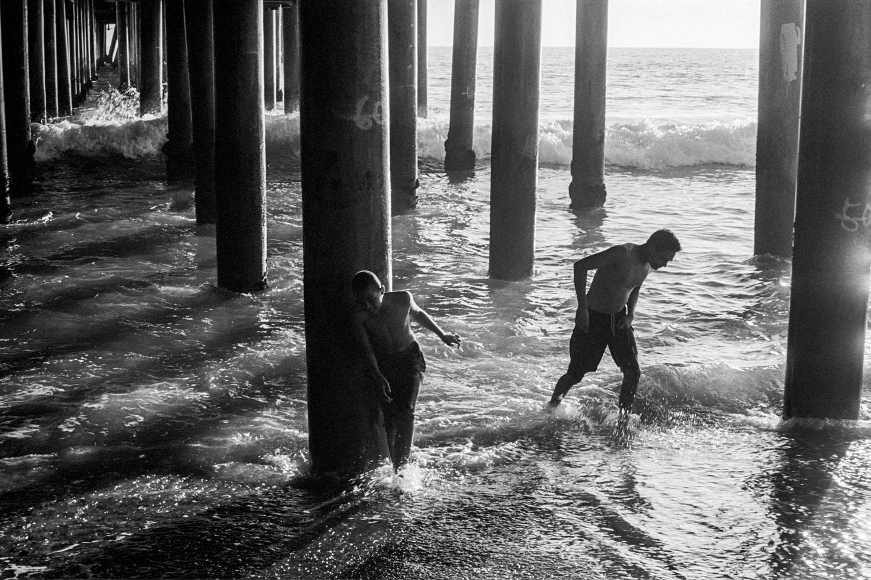 Underneath the pier, Santa Monica, California, 2017.