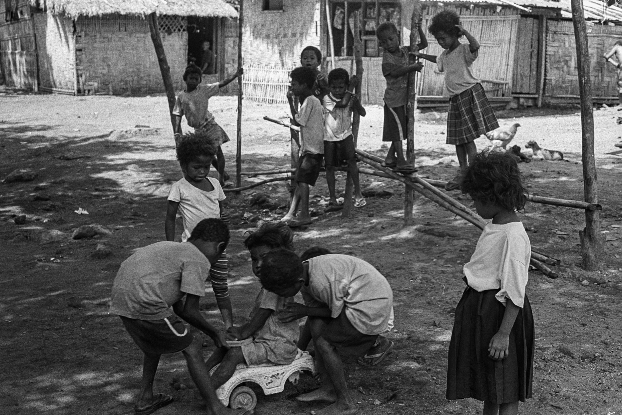 Aeta Children playing in their village near Mount Pinatubo, Philippines, 2018.
