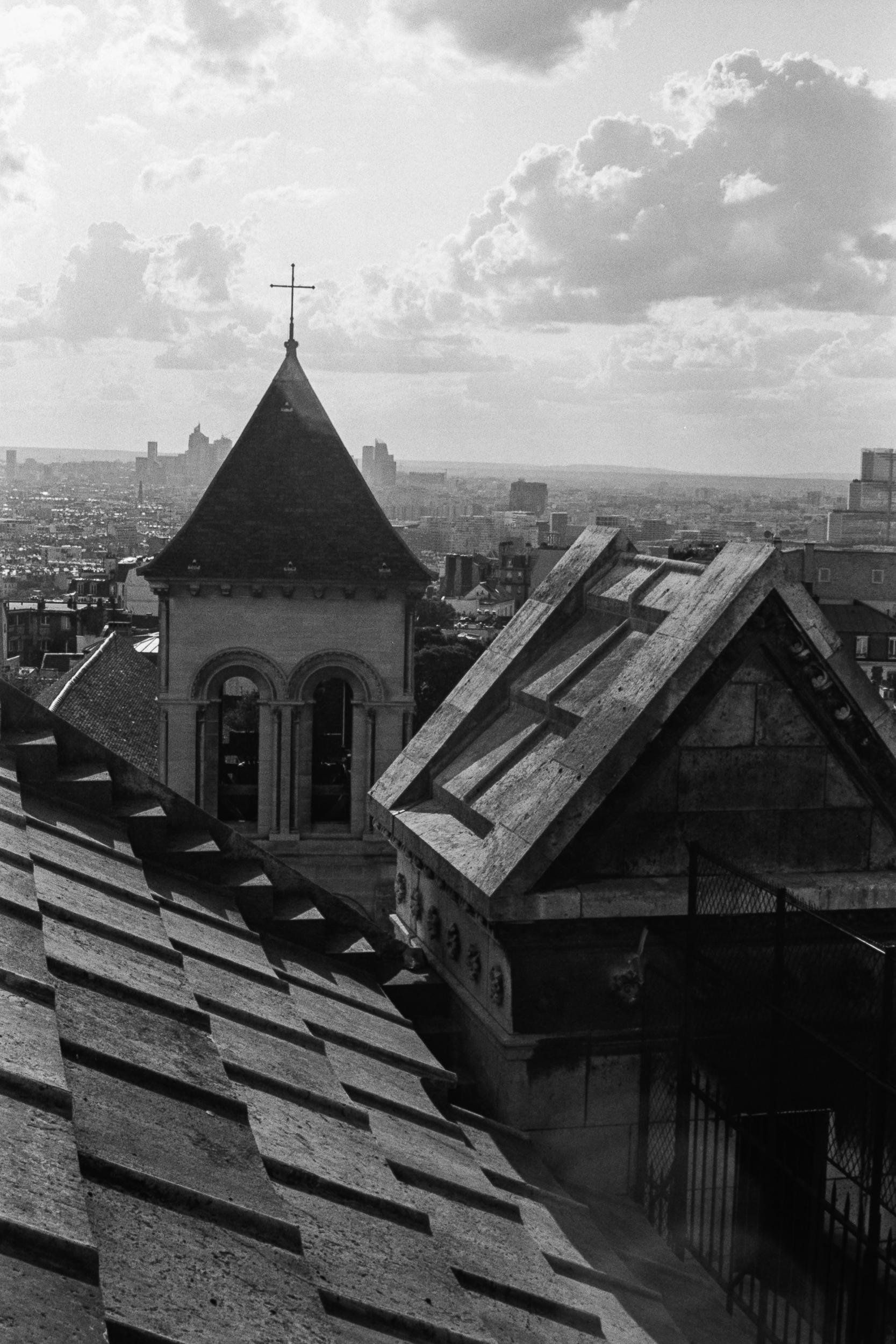 A view from Sacré-Cœur, Paris, 2019.