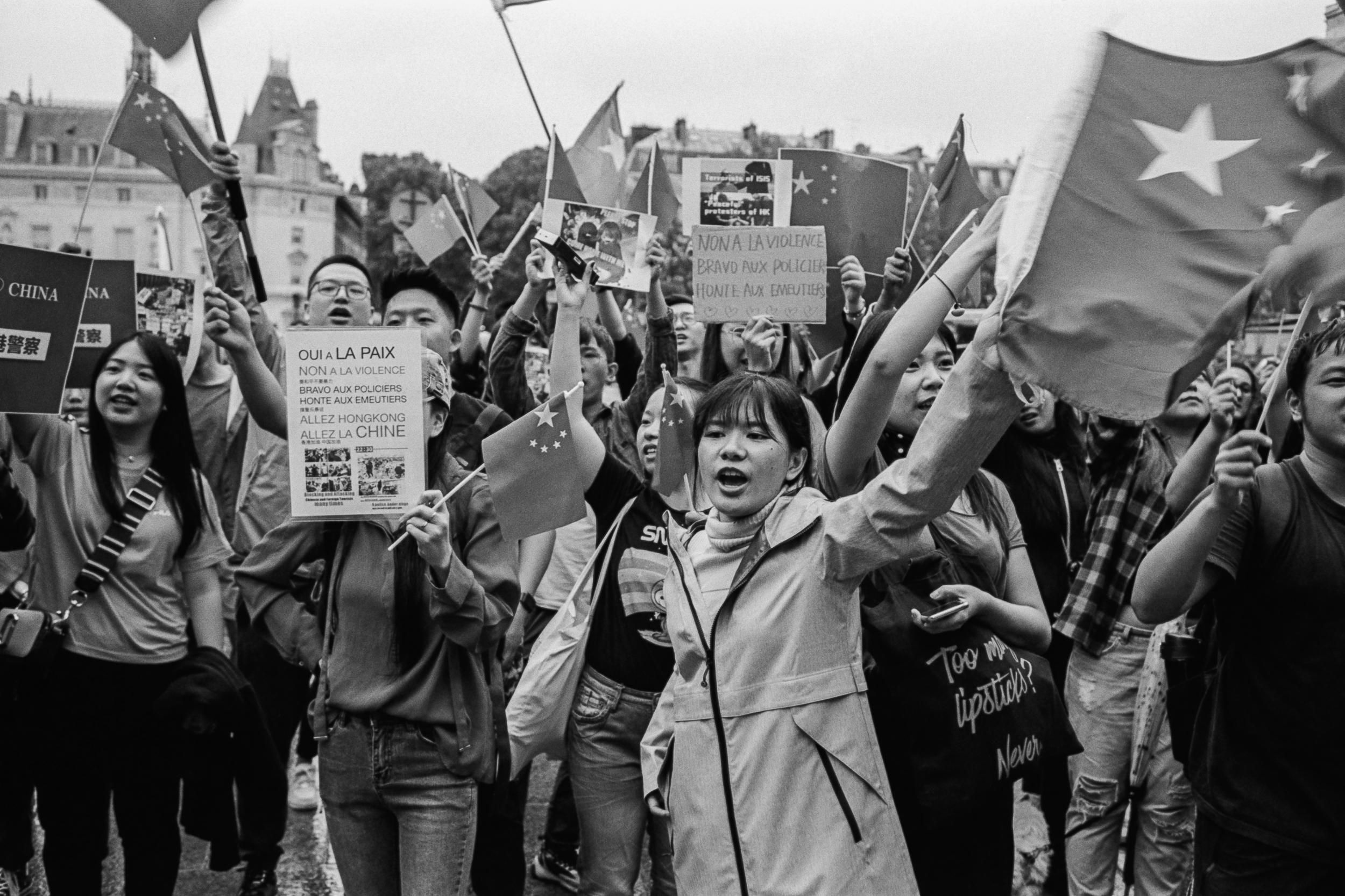 Extradition Bill Protest, Paris, 2019.