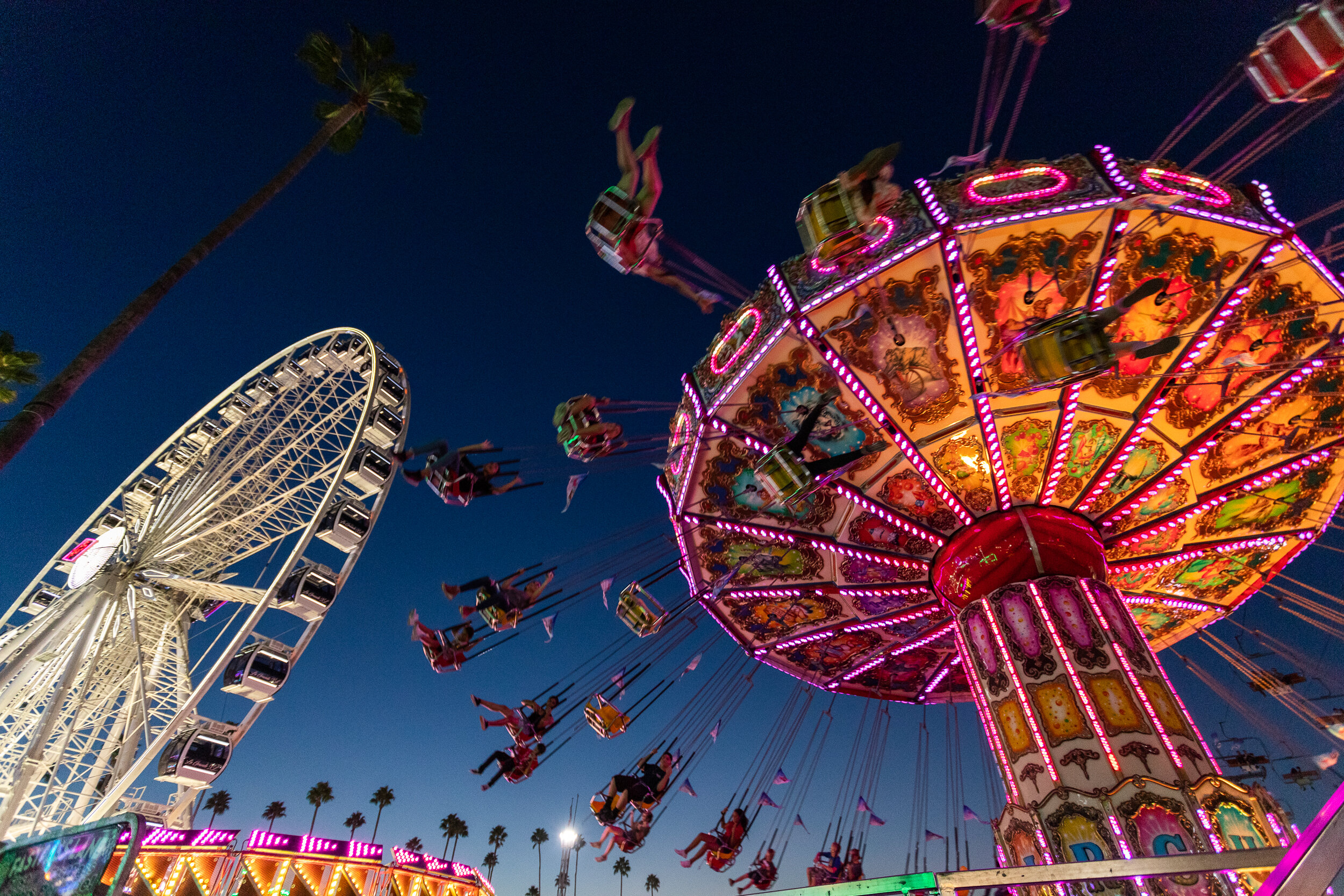 Nicholas Slobin/ Courier Fairgoers enjoy one of the many rides that the Los Angeles County Fair in Pomona, Calif. has to offer on Saturday, September 14, 2019.