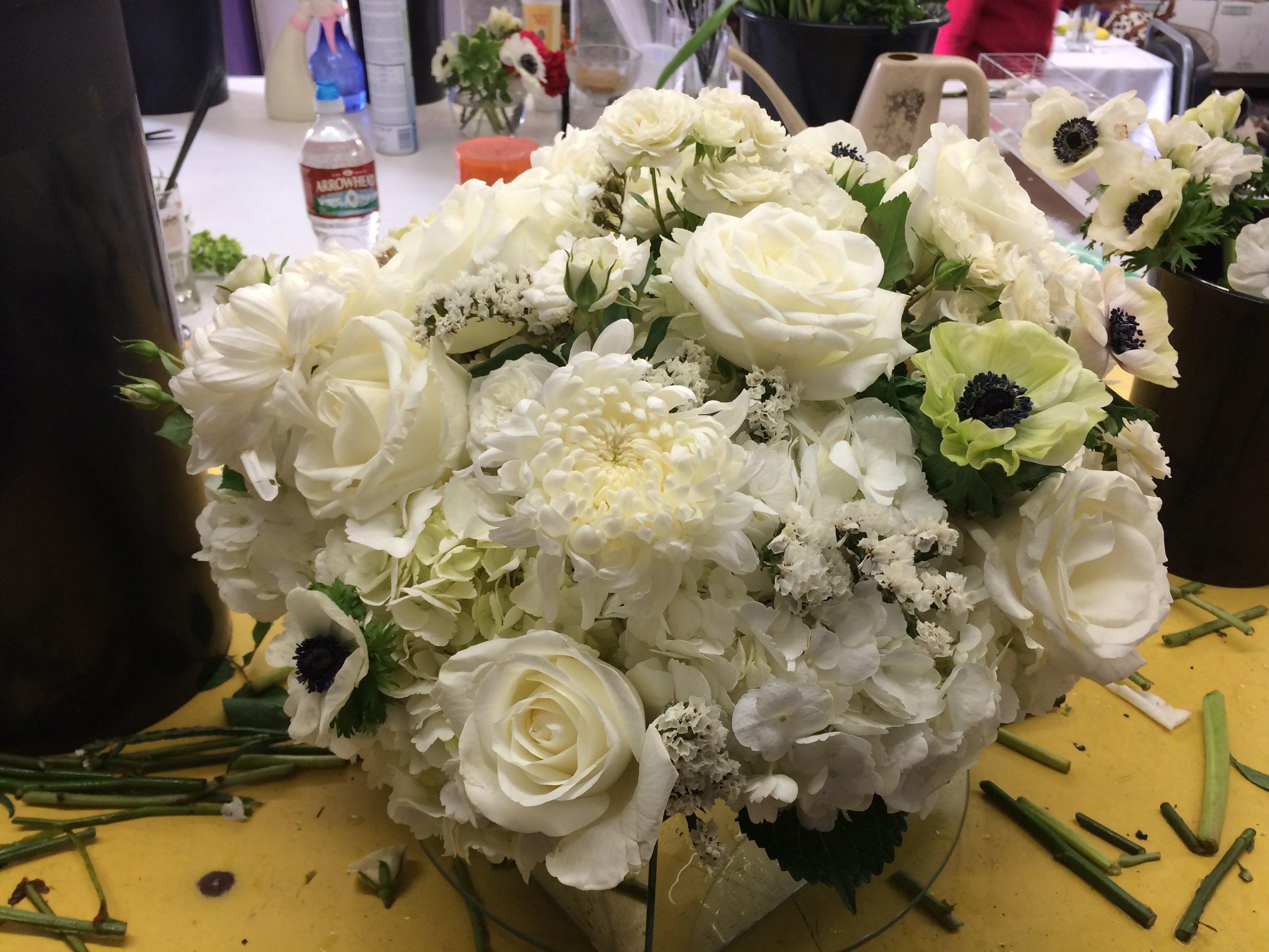 First floral arrangement as an intern with  Love Anne Joy