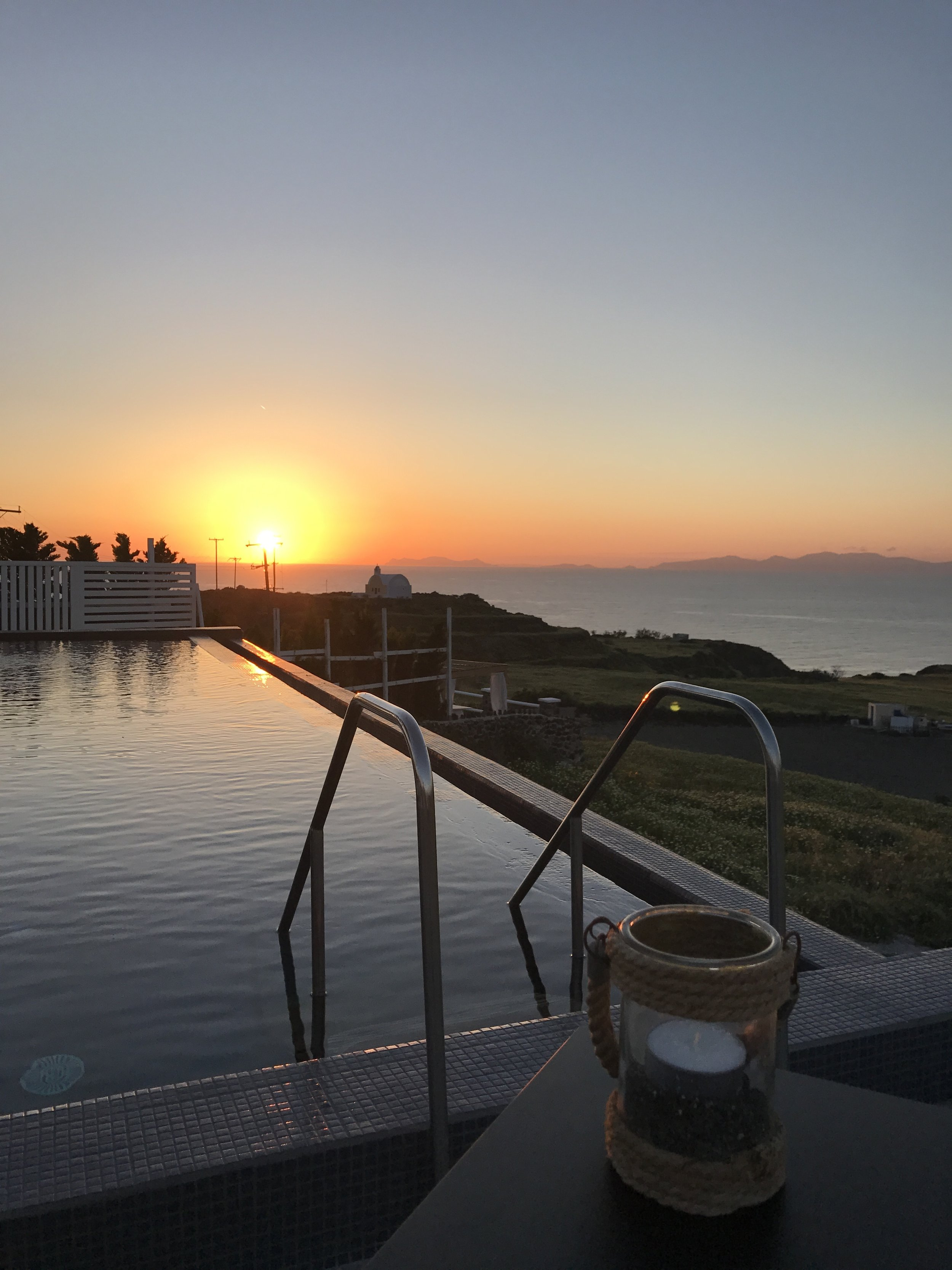 the unforgettable sunset view from the resort