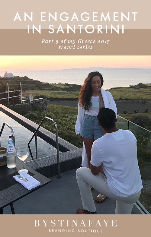 An Engagement in Santorini