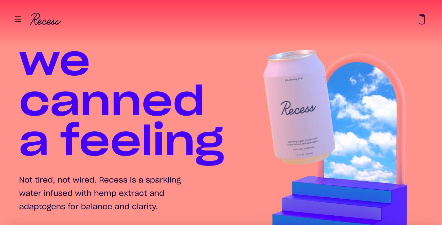Recess Sparkling CBD water