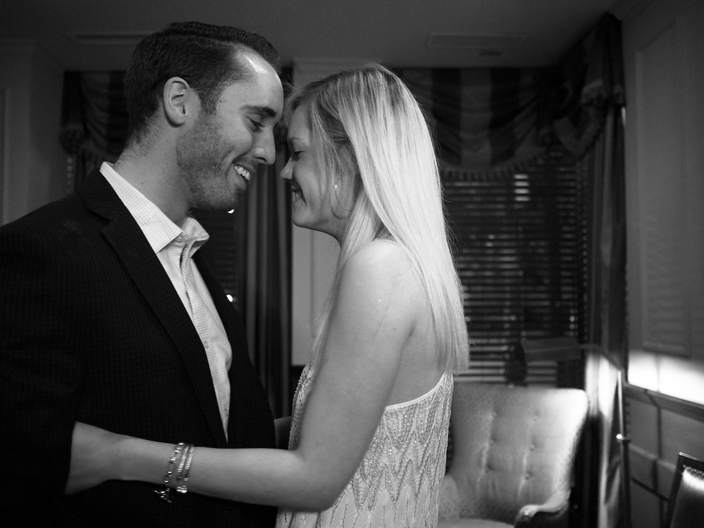 Dunhill Hotel Uptown Charlotte NC Wedding Engagement Photographer Surprise Proposal Photography She Said Yes Couple Black and White B&W