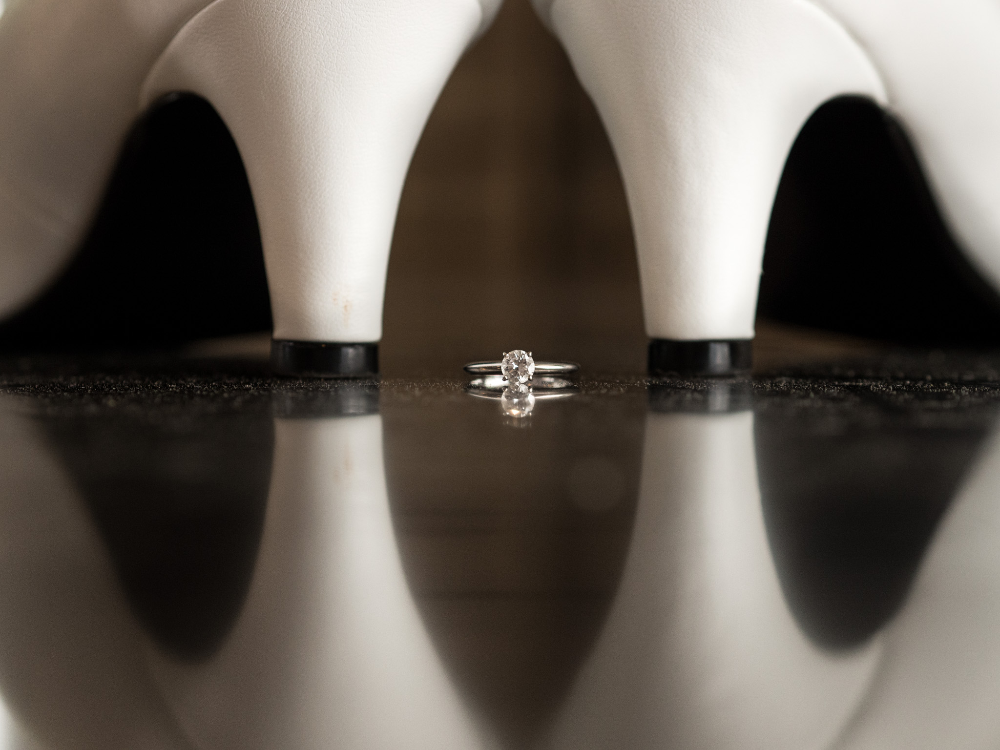 214 Martin Street, Wedding Photography, Shoes, Engagement Ring, Ring Shot, Detail, Reflections