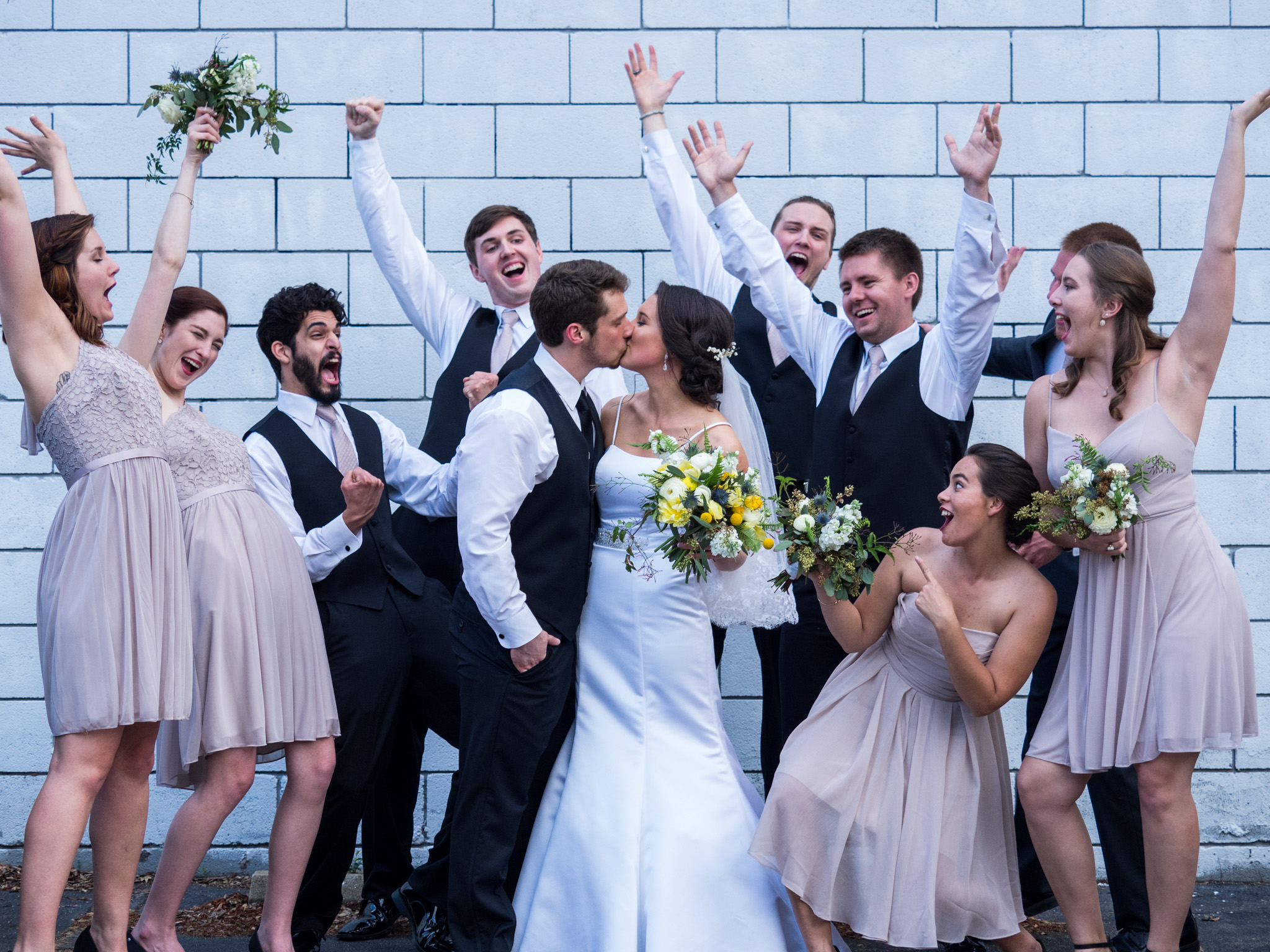 214 Martin Street, Wedding Photography, Raleigh, NC, Bridal Party, Fun