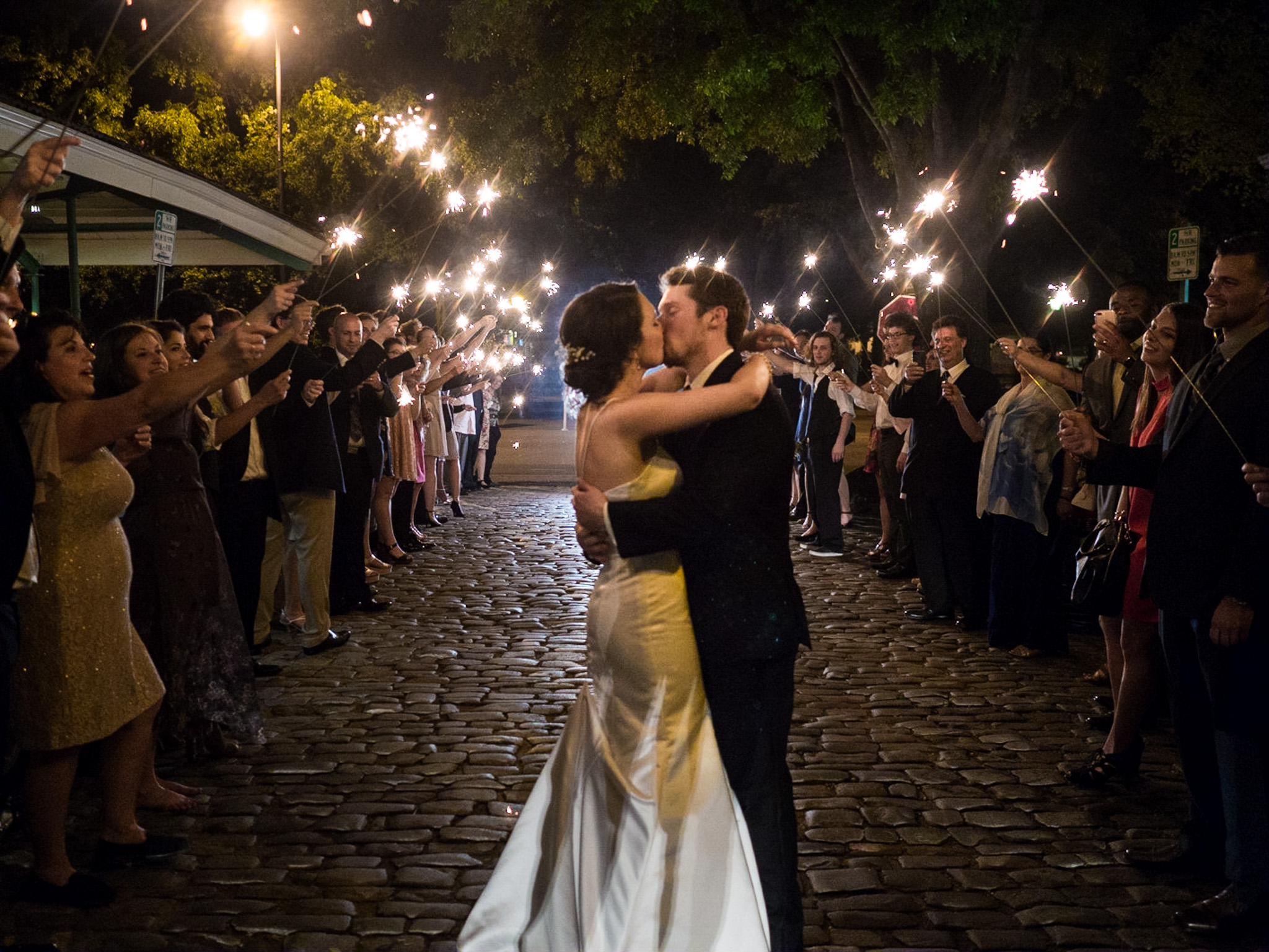 214 Martin Street, Wedding Photography, Raleigh, NC, Bride and Groom, Groom, Sparkler Exit