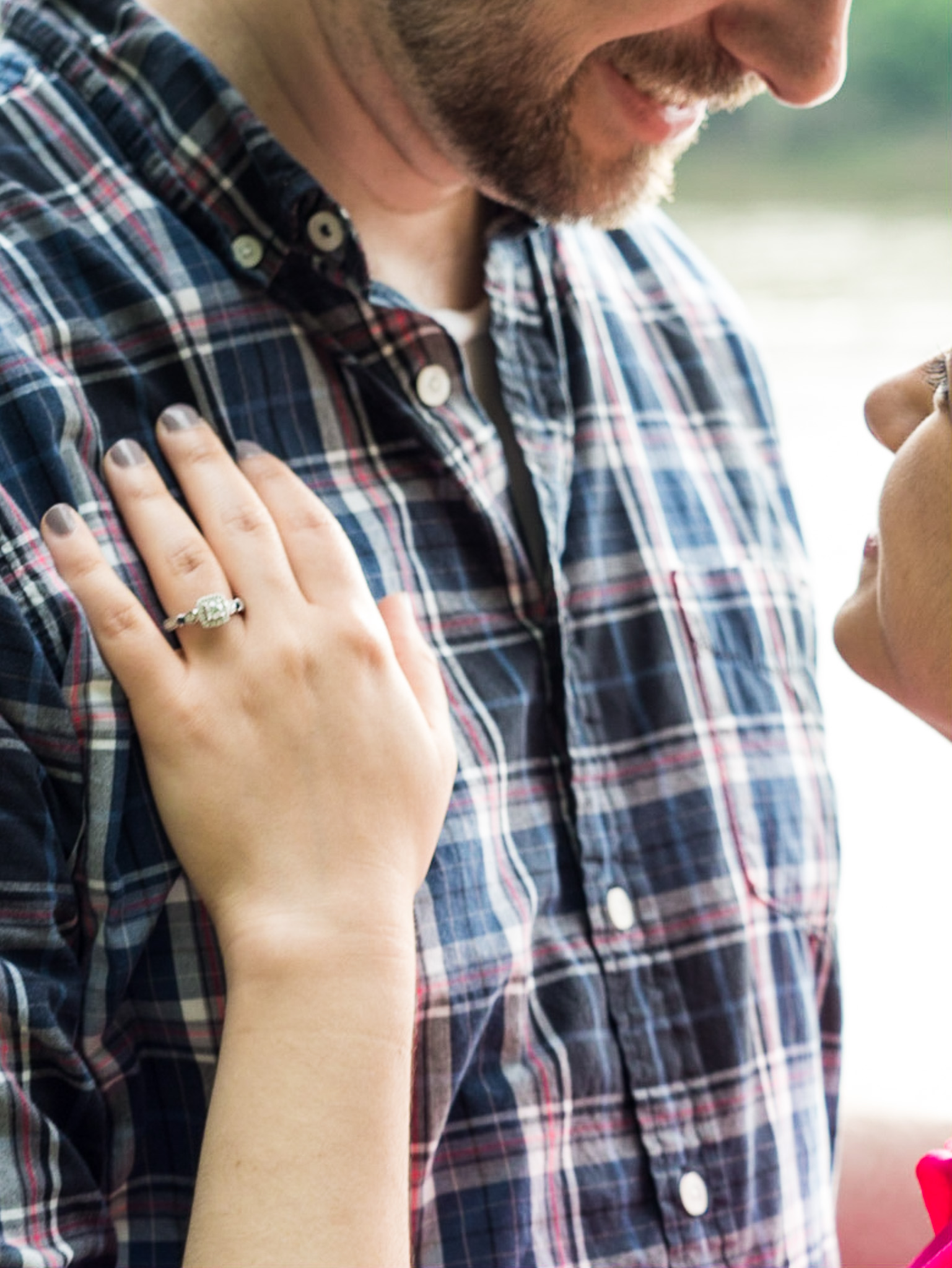 Engagement, Photography, Photographer, Columbia SC, Riverwalk, USC, College Campus, Couple, Ring, Engagement Ring