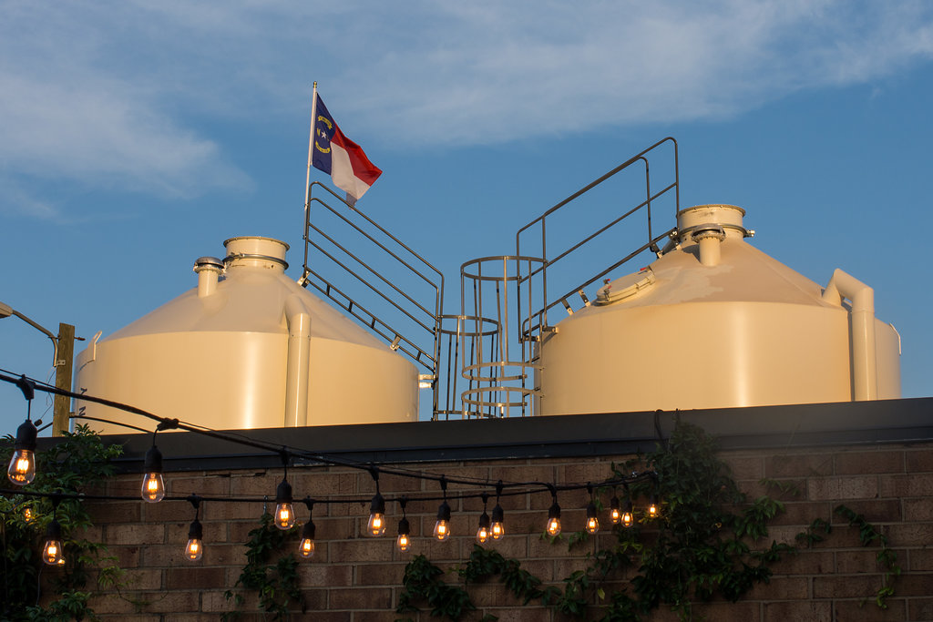 Casual ceremony at Sugar Creek Brewery Wedding in Charlotte, NC