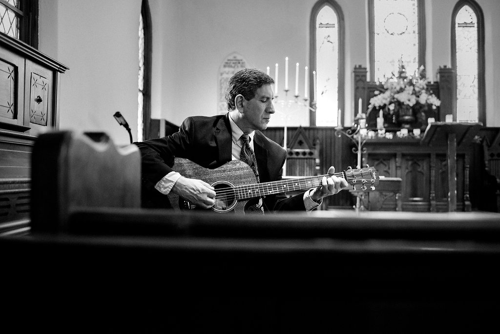 Guitarist Mike Alicke at St. Mary's Chapel Wedding in Charlotte NC