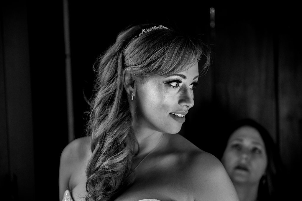 Bride getting ready at St. Mary's Chapel Wedding in Charlotte NC