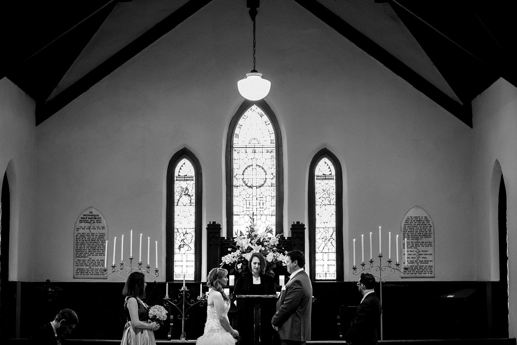 Wedding Ceremony at St. Mary's Chapel in Charlotte NC