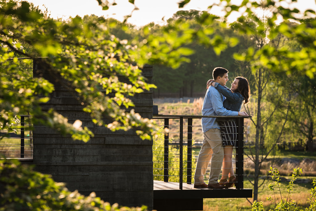 Raleigh North Carolina Museum of Art Engagement Session from Charlotte Wedding Photographers
