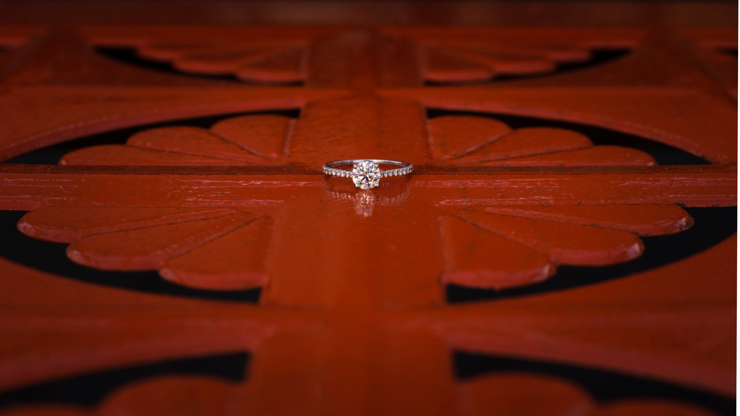 Ring Details at Camp North End Engagement Session from Charlotte Wedding Photographer
