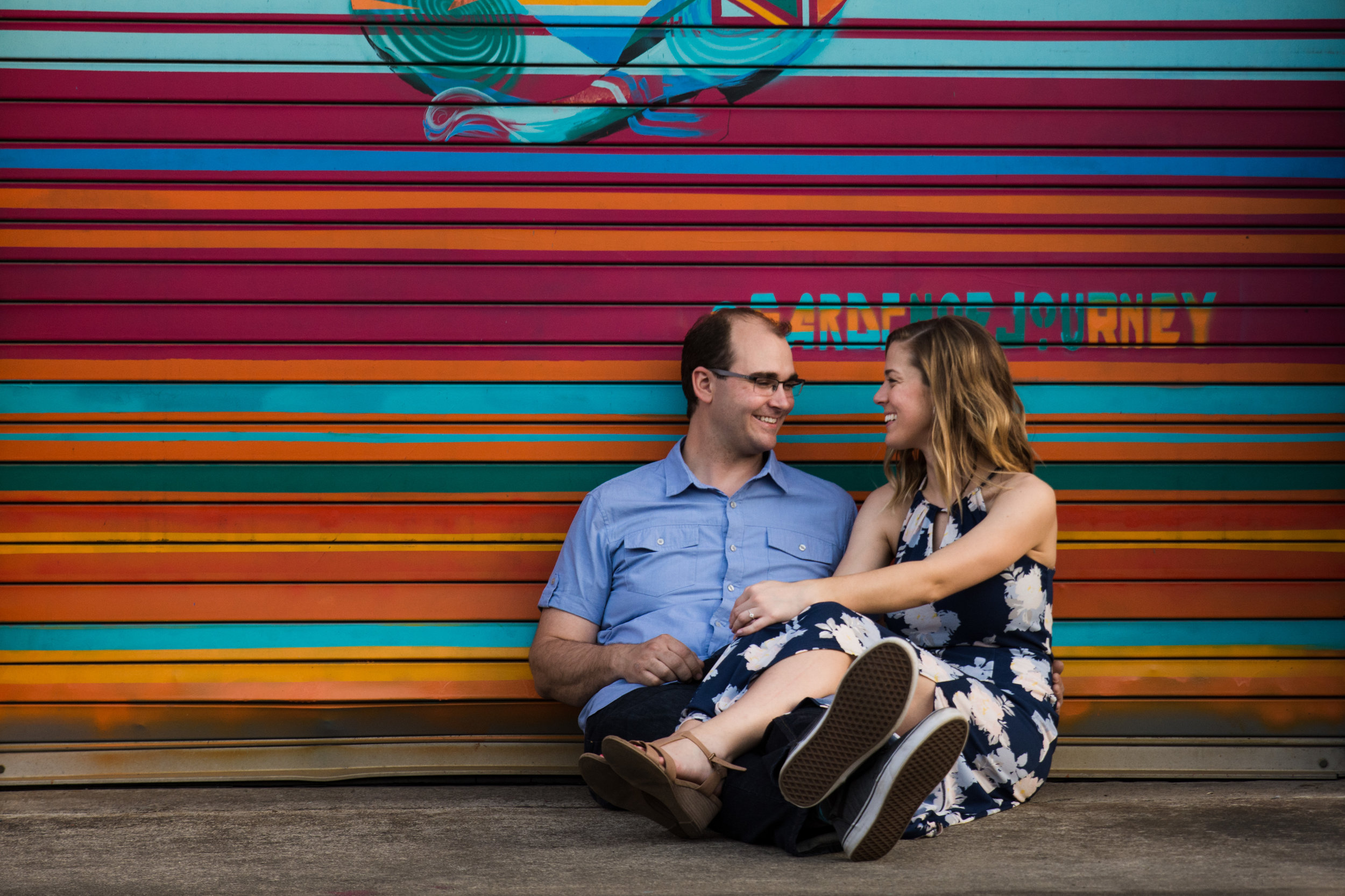 Camp North End Engagement Session from Charlotte Wedding Photographer
