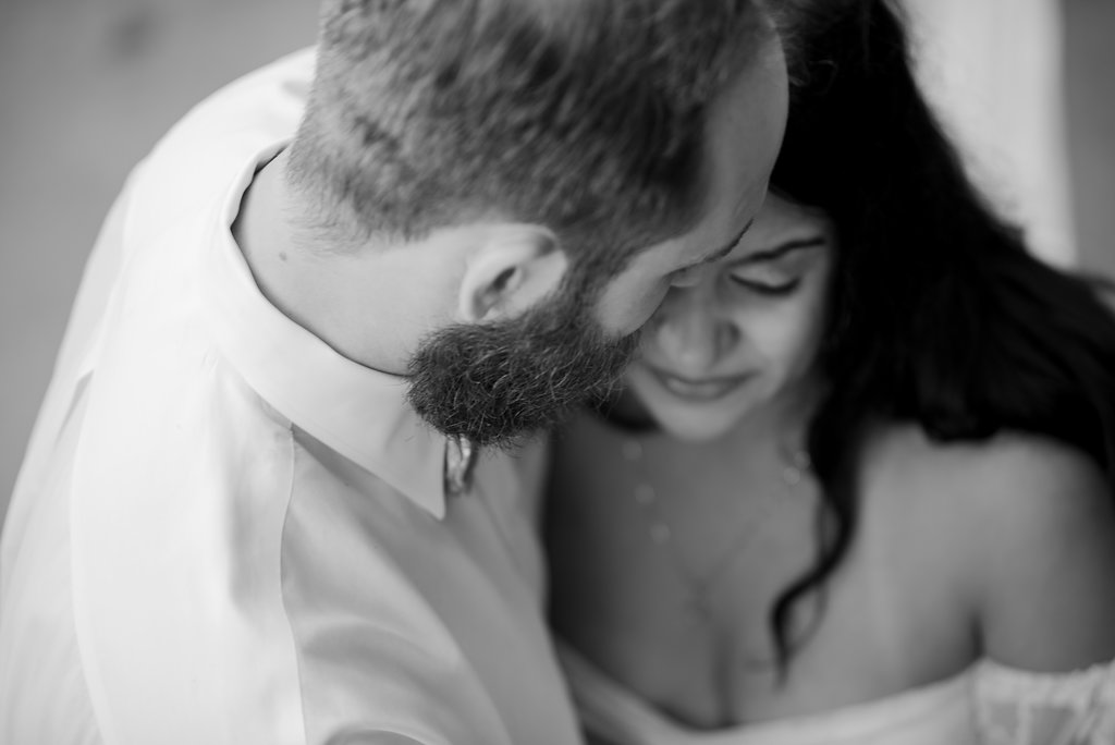 Black and White Freedom Park Maternity Session from Charlotte Photographer