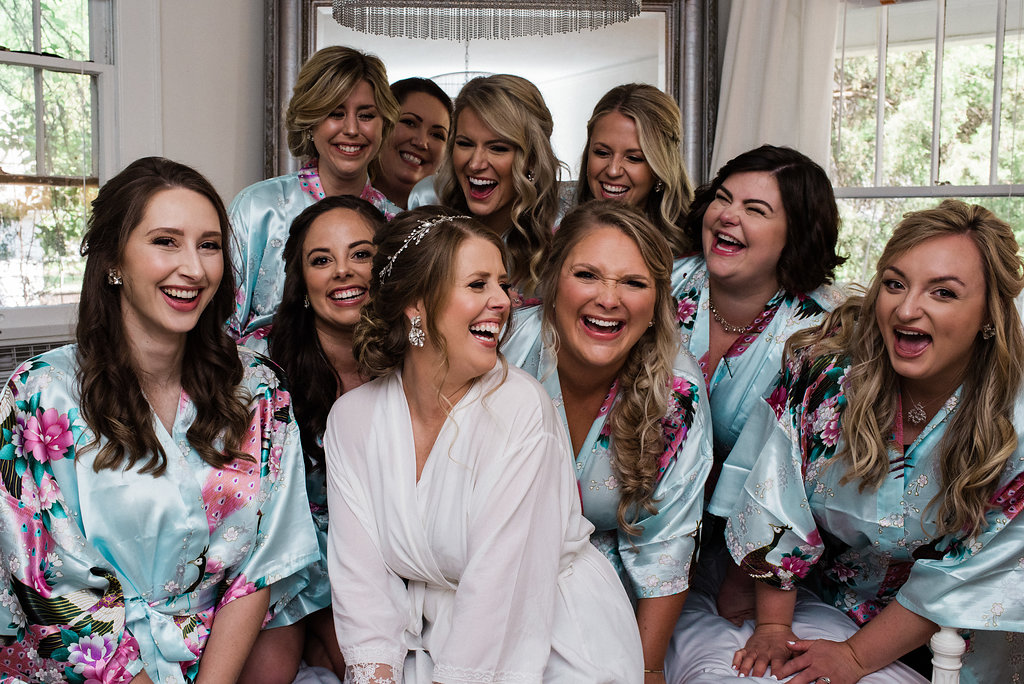 Bridesmaids Group Photo at Bungalow 1325 from Charlotte Wedding Photographer