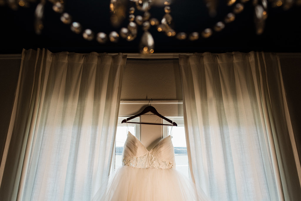 Wedding Dress at Bungalow 1325 from Charlotte Wedding Photographer