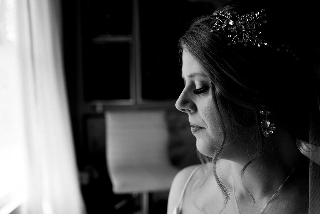 Bridal Portrait at Bungalow 1325 from Charlotte Wedding Photographer