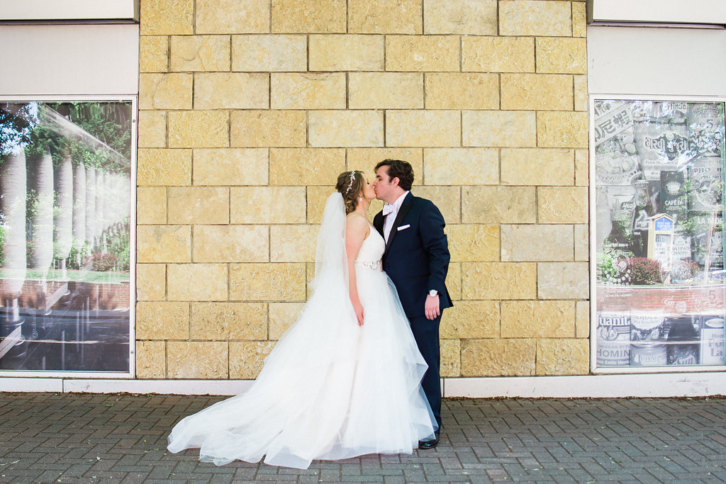 Bride and Groom Couple's Portraits at Levine Museum of the New South from Charlotte Wedding Photographer