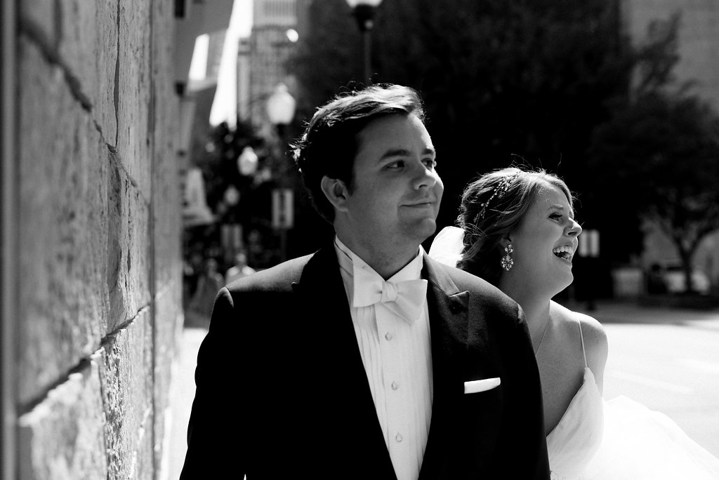 Uptown Bride and Groom Couple's Portraits from Charlotte Wedding Photographer