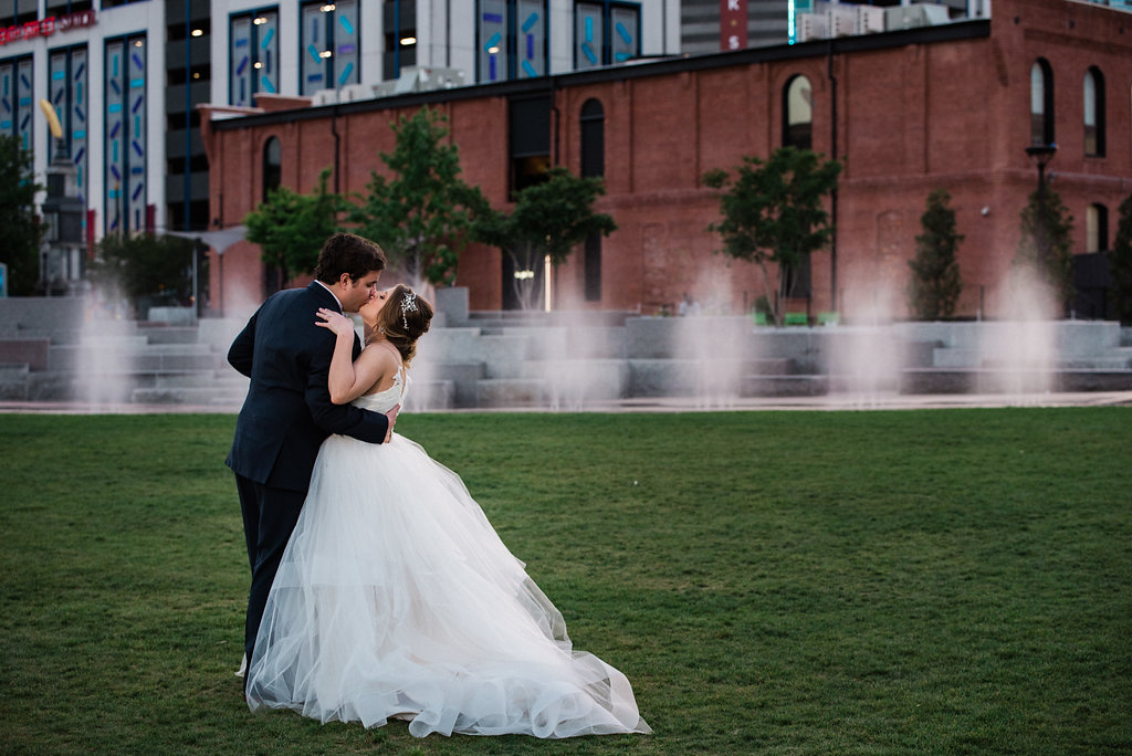 First Ward Park Uptown Couple's Portraits from Charlotte Wedding Photographer