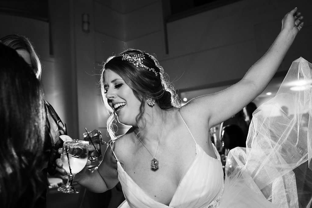 Reception Dancing Bride at Levine Museum of the New South from Charlotte Wedding Photographer