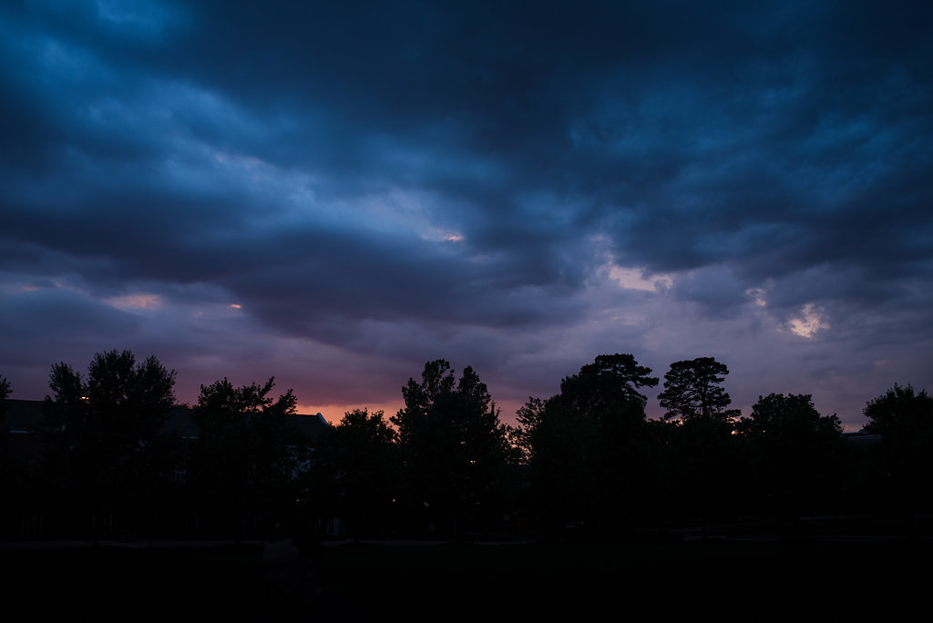 UNCG Greensboro Engagement Session Sunset from Charlotte Wedding Photographer