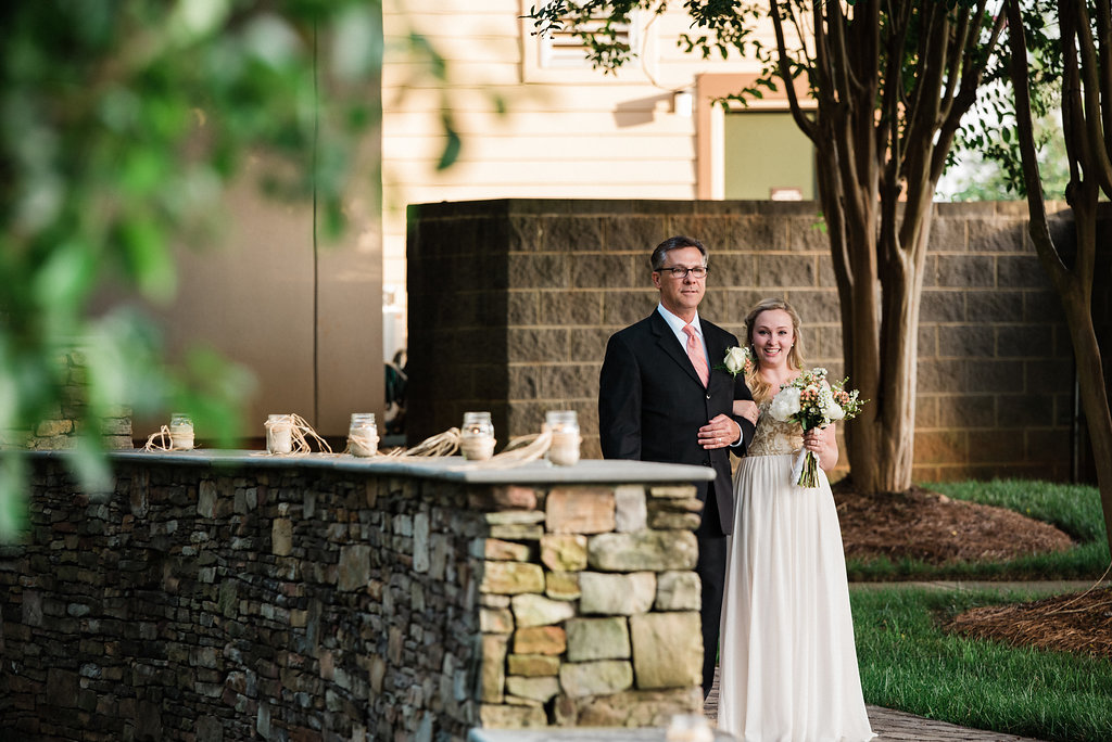 Dog in St. Patrick Episcopal Church Elopement Ceremony in Mooresville, NC from Charlotte Wedding Photographer