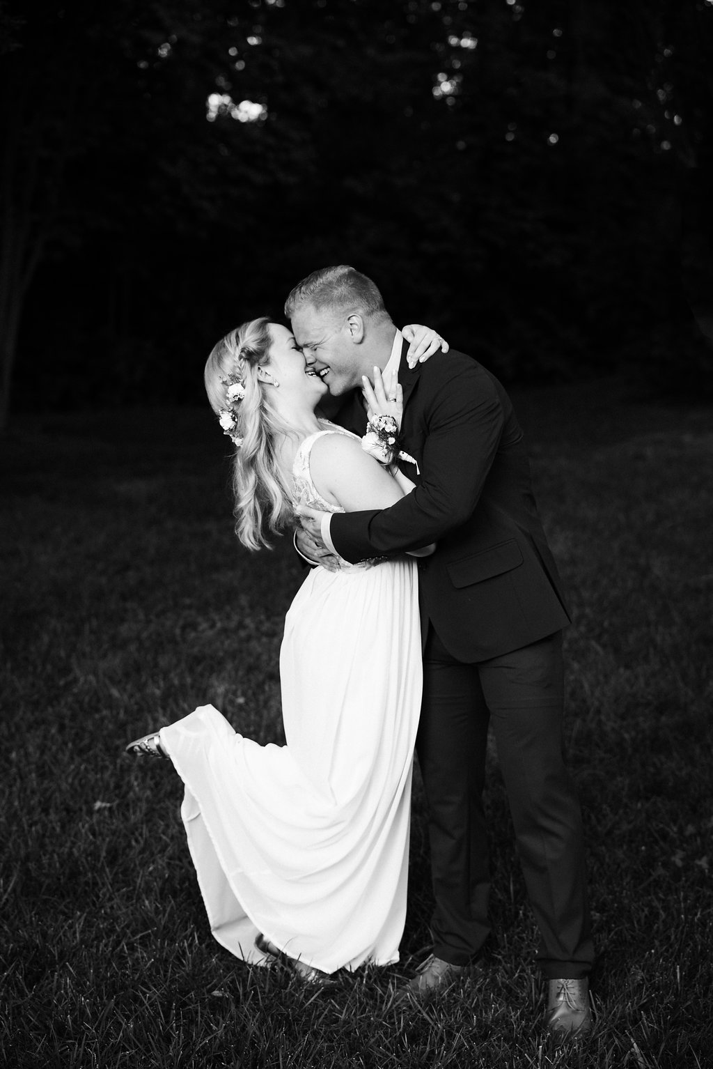 Bride and Groom at St. Patrick Episcopal Church Elopement in Mooresville, NC from Charlotte Wedding Photographer