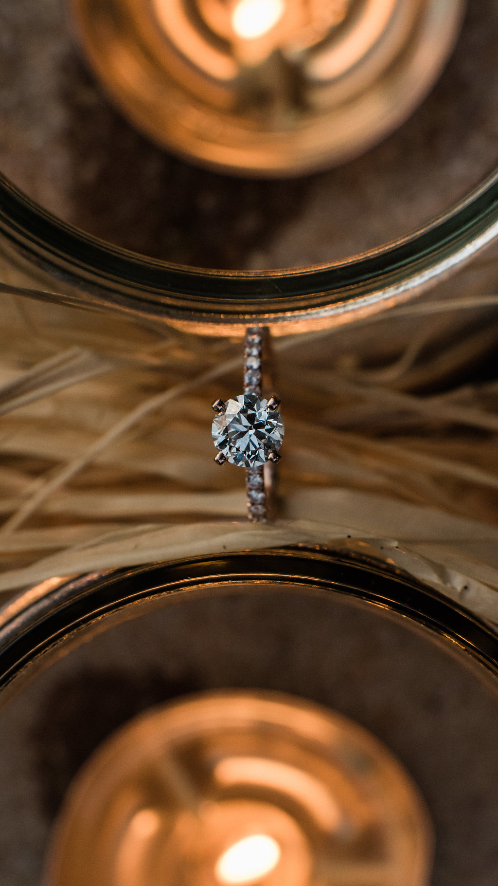 Ring Details Shot Bride and Groom at St. Patrick Episcopal Church Elopement in Mooresville, NC from Charlotte Wedding Photographer