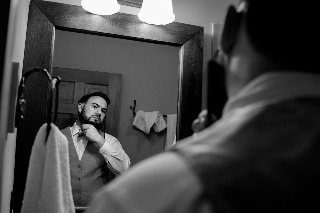 Groom Getting Ready at Summerfield Farms from Charlotte NC Wedding Photographer