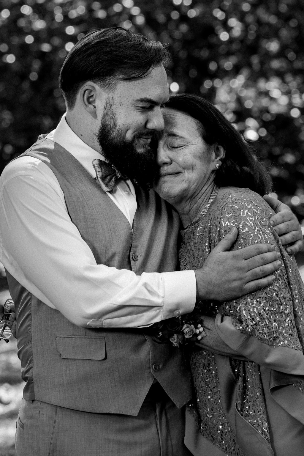 Groom and Mother at Summerfield Farms from Charlotte NC Wedding Photographer