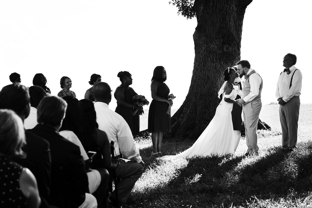 Ceremony at Summerfield Farms from Charlotte NC Wedding Photographer
