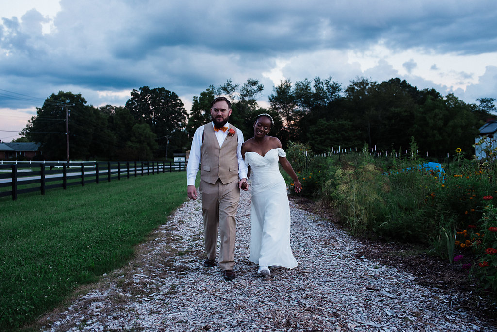 Bride and Groom at Summerfield Farms from Charlotte NC Wedding Photographer