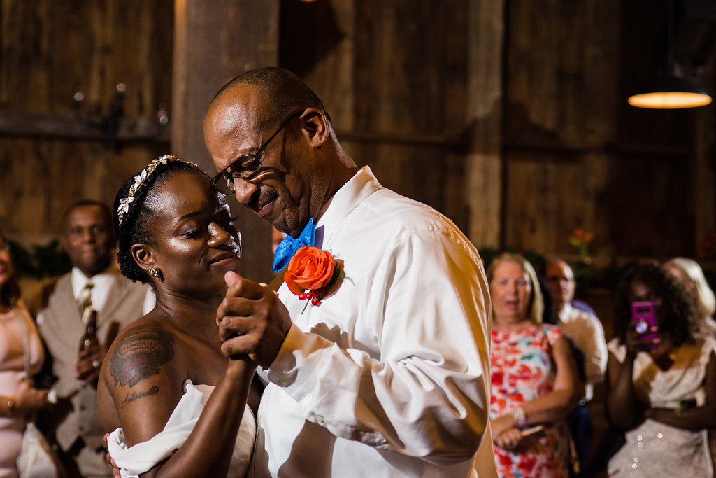 Reception Dancing at Summerfield Farms from Charlotte NC Wedding Photographer
