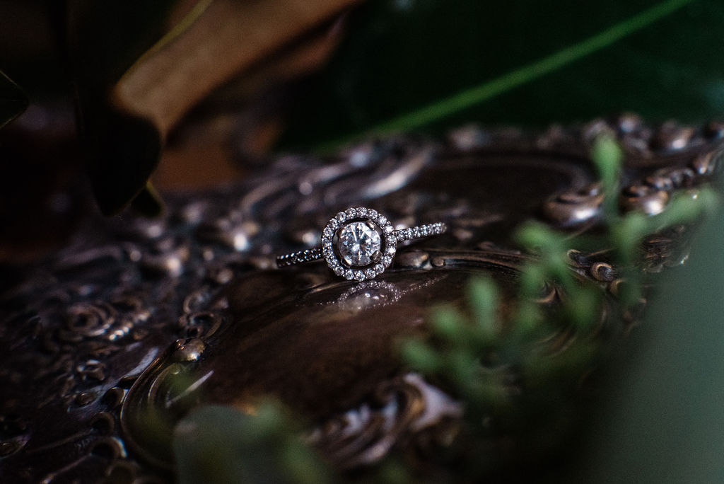 Ring Details at Ritchie Hill Venue in Concord NC by Charlotte Wedding Photographers