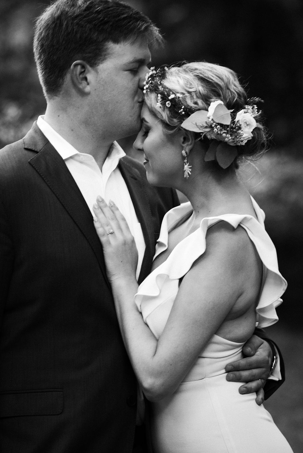 Bride and Groom at Ritchie Hill Venue in Concord NC by Charlotte Wedding Photographers