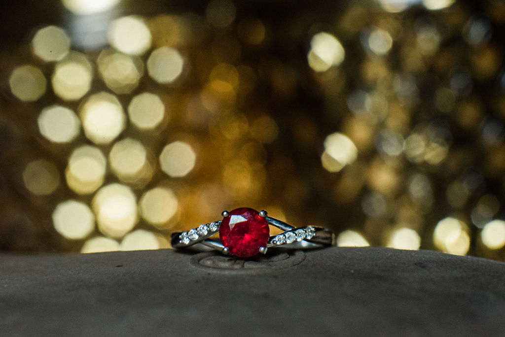 Macro Ring Details at Magnolia Woods Huntersville by Charlotte Wedding Photographers
