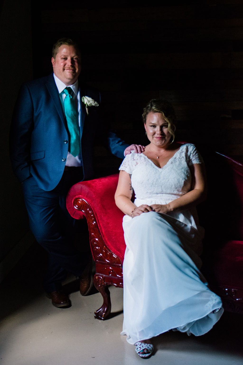 Bride and Groom at Magnolia Woods Huntersville by Charlotte Wedding Photographers