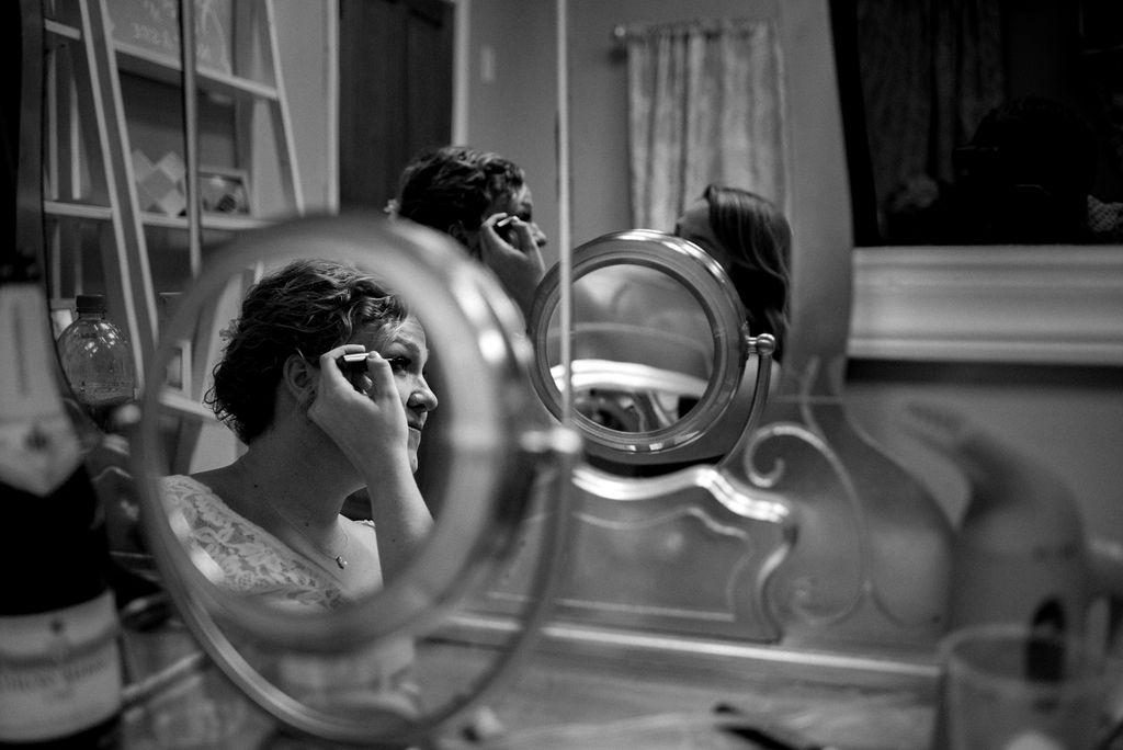 Bride Getting Ready at Magnolia Woods Huntersville by Charlotte Wedding Photographers
