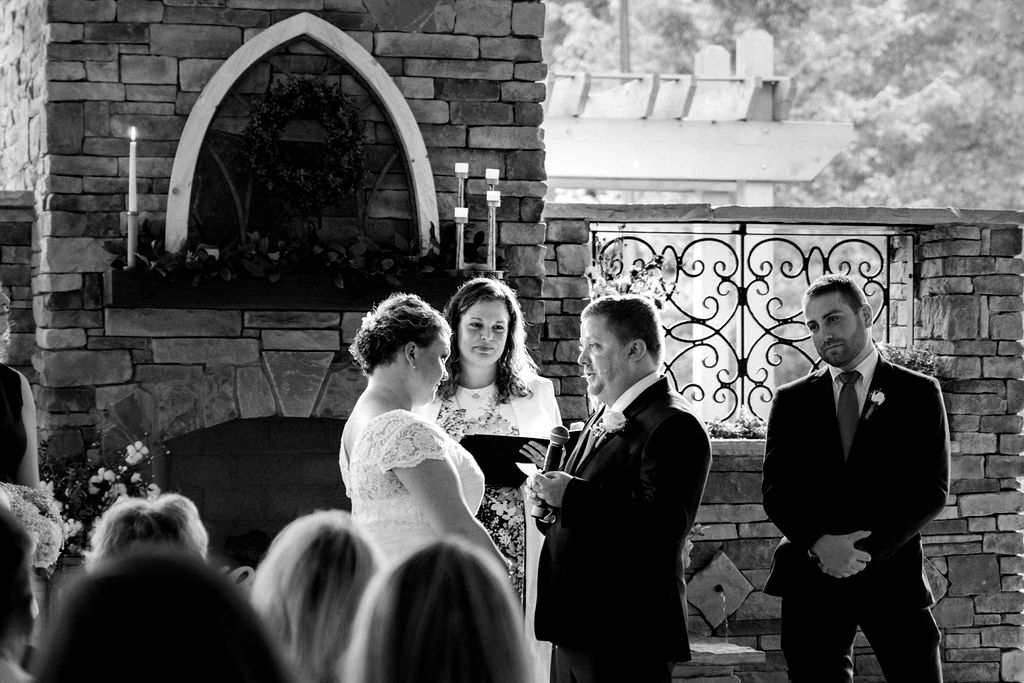 Ceremony at Magnolia Woods Huntersville by Charlotte Wedding Photographers