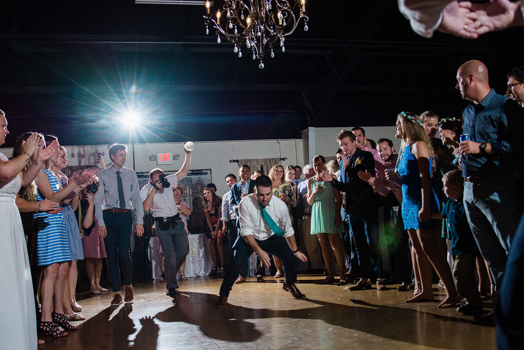 Space Jam Dancing at Reception at Magnolia Woods Huntersville by Charlotte Wedding Photographers