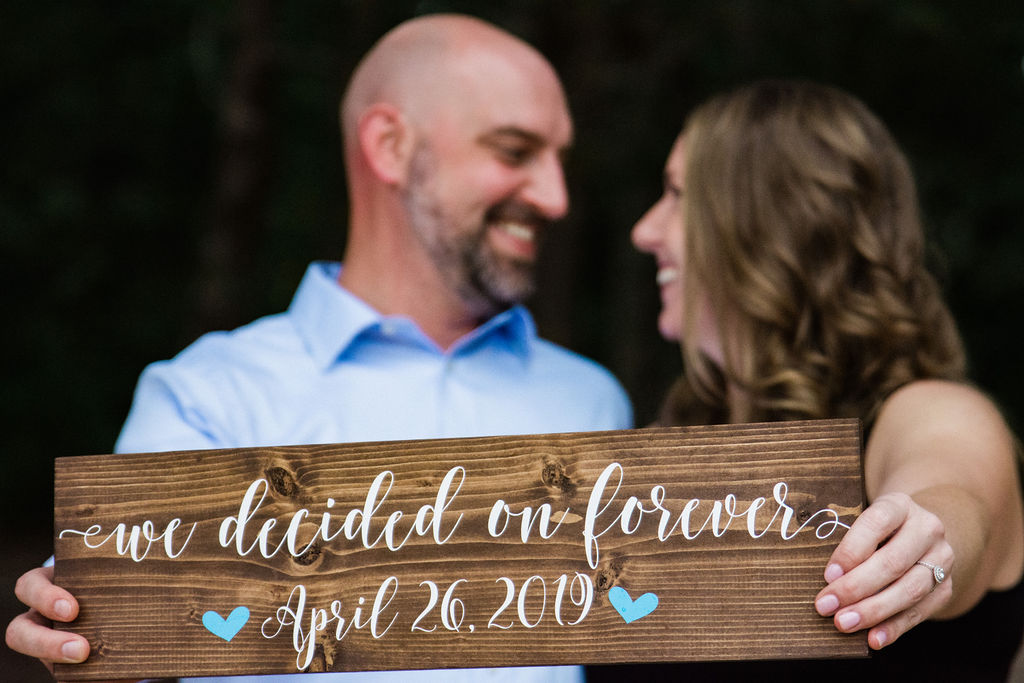 Jetton Park Engagement Session Save the Date