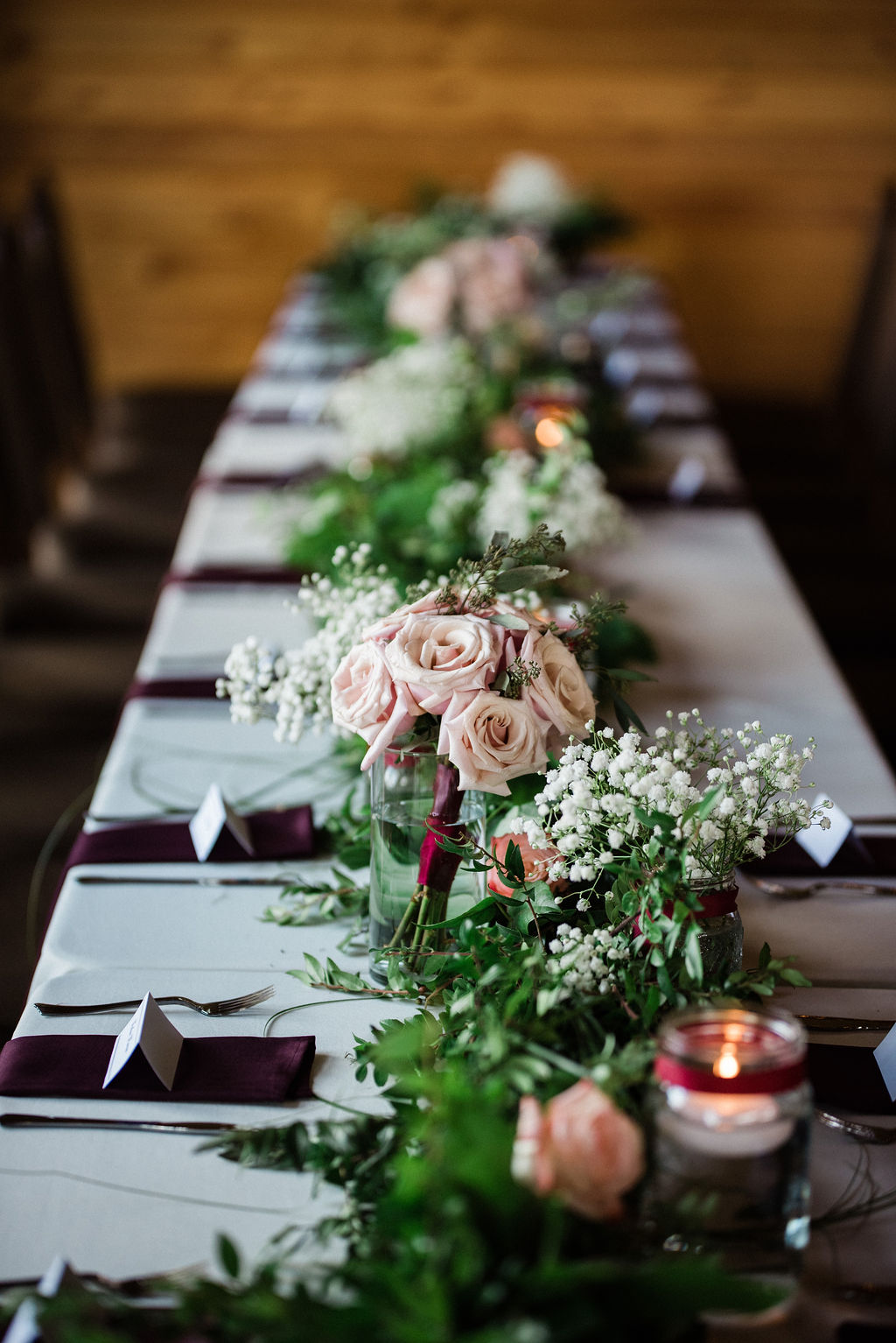 Reception Table Settings at Historic Rural Hill by Charlotte Wedding Photographers